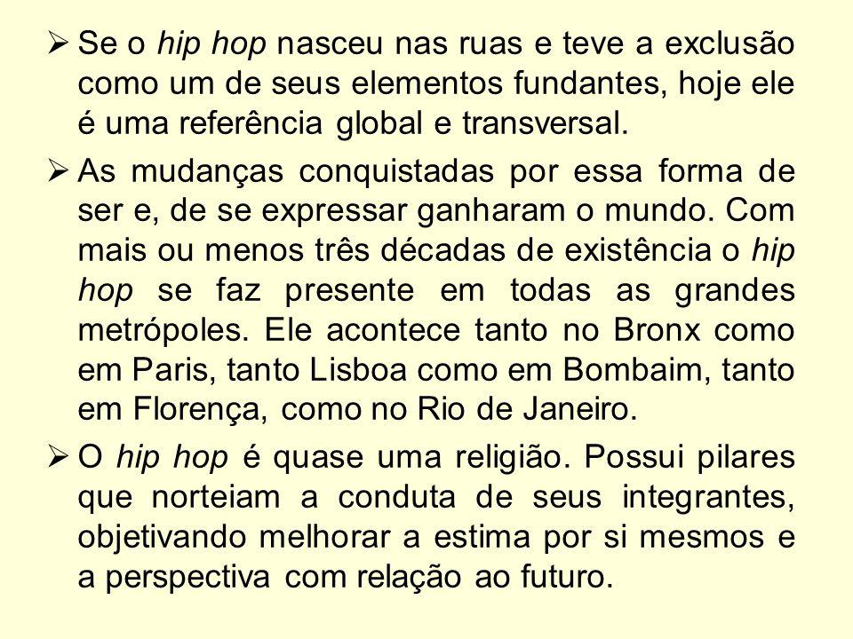 Se o hip hop nasceu nas ruas e teve a exclusão como um de seus elementos fundantes, hoje ele é uma referência global e transversal.
