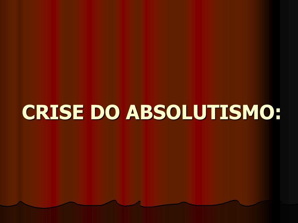 CRISE DO ABSOLUTISMO: