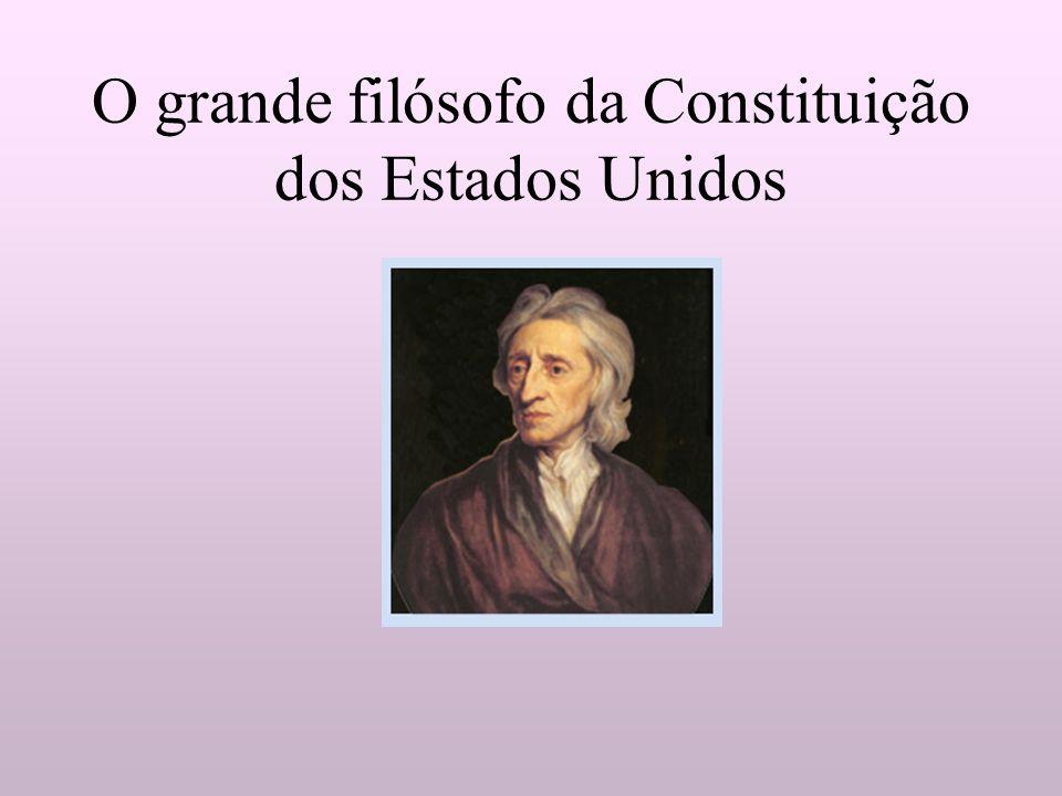 O grande filósofo da Constituição dos Estados Unidos