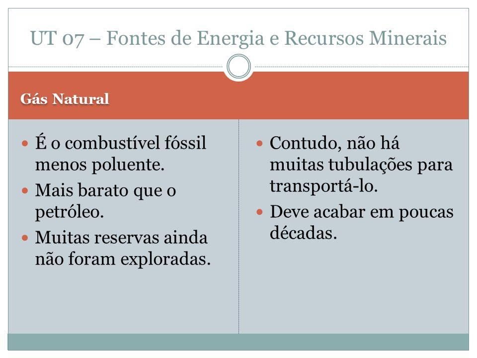 Petróleo Consegue fornecer derivados (gasolina, óleo diesel).