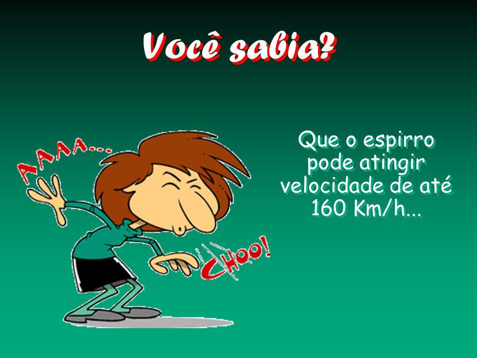Você sabia? Que o espirro pode atingir velocidade de até 160 Km/h...