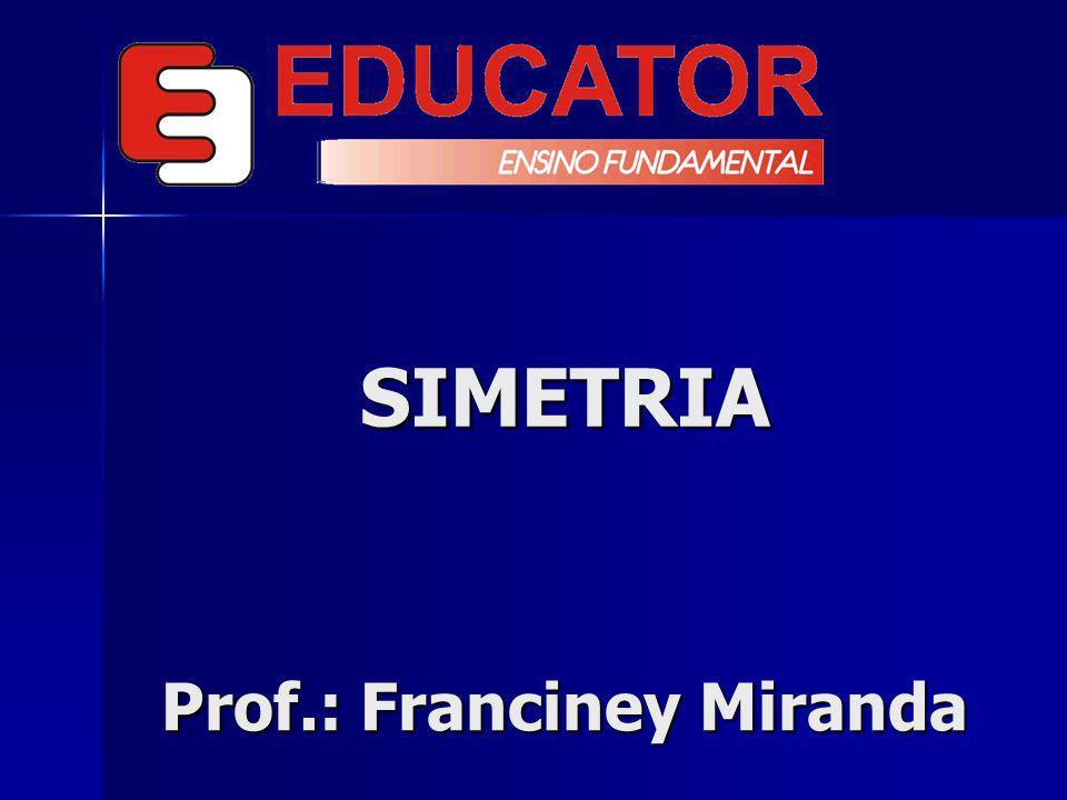 SIMETRIA Quando existe uma correspondência de posição, de forma, de medida em relação a um eixo entre os elementos de um conjunto ou entre dois ou mais...