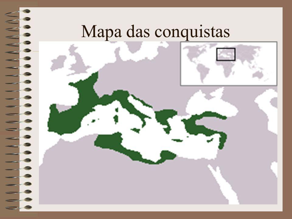 Mapa das conquistas