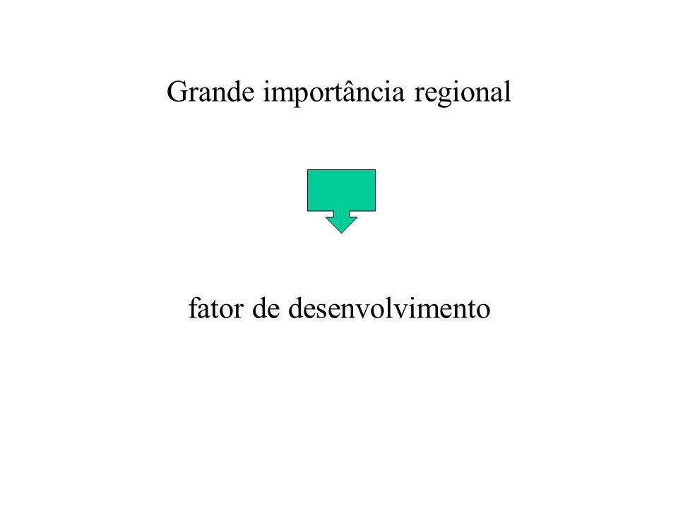 Grande importância regional fator de desenvolvimento