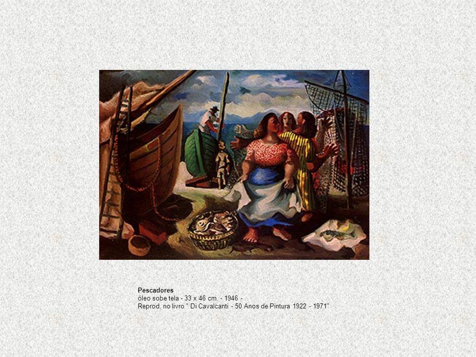 Pescadores óleo sobe tela - 33 x 46 cm. - 1946 - Reprod. no livro