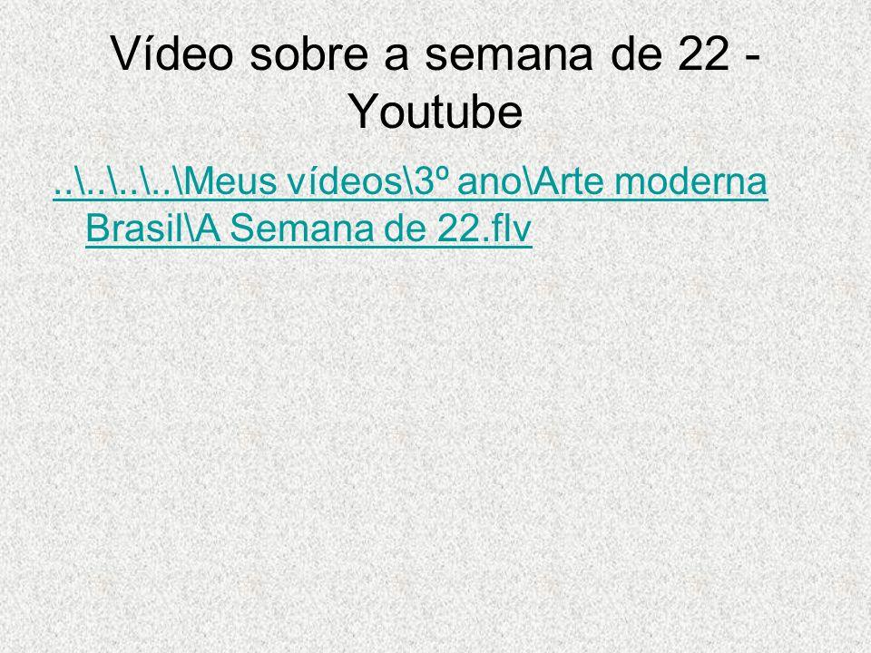 Vídeo sobre a semana de 22 - Youtube..\..\..\..\Meus vídeos\3º ano\Arte moderna Brasil\A Semana de 22.flv