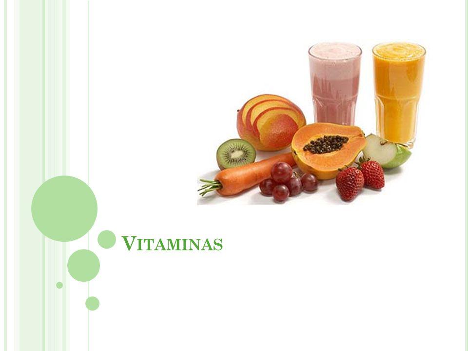CLASSIFICAÇÃO DAS VITAMINAS Lipossolúveis: Normalmente de origem animal Dissolvem-se nos lipídios Seu excesso é armazenado no tecido adiposo e no fígado pode provocar problemas se em excesso (hipervitaminose) Não são necessárias diariamente por serem acumuladas Vitaminas A, D, E e K