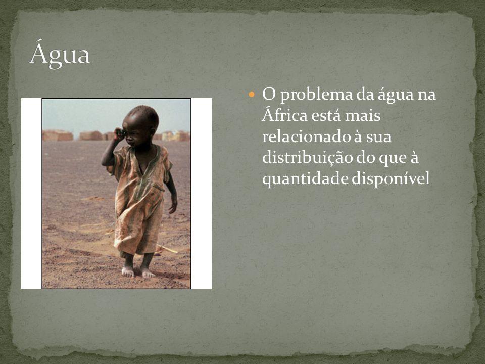 O problema da água na África está mais relacionado à sua distribuição do que à quantidade disponível