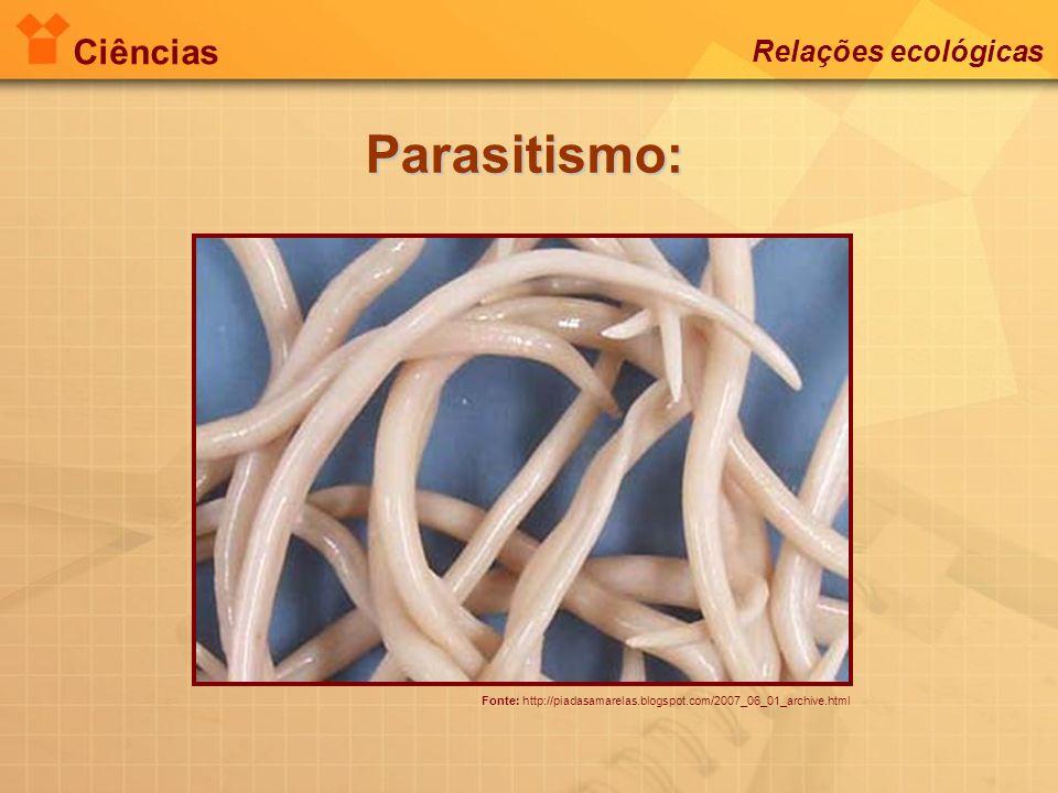 Ciências Relações ecológicas Parasitismo: Fonte: http://piadasamarelas.blogspot.com/2007_06_01_archive.html