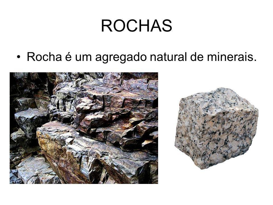 CLASSIFICAÇÃO As rochas são classificadas em: Magmáticas ou ígneas: se originam do magma.