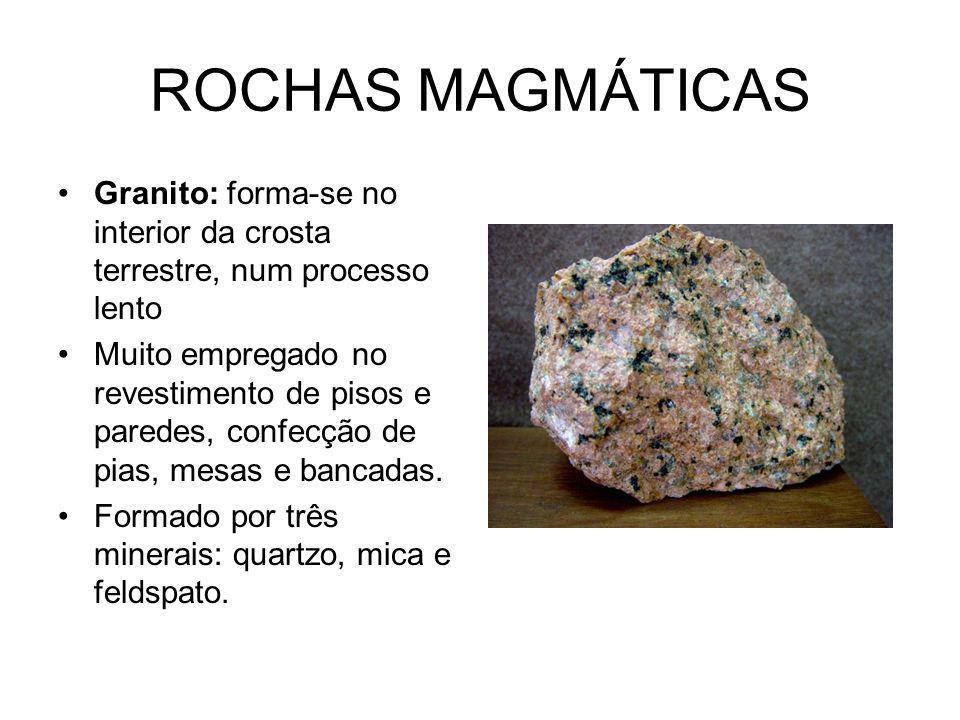 GRANITO Quartzo: mineral abundante da crosta terrestre.