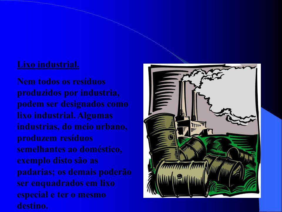 Lixo radioativo. Resíduo tóxico e venenoso formado por substâncias radioativas resultantes do funcionamento de reatores nucleares. Como não há um luga