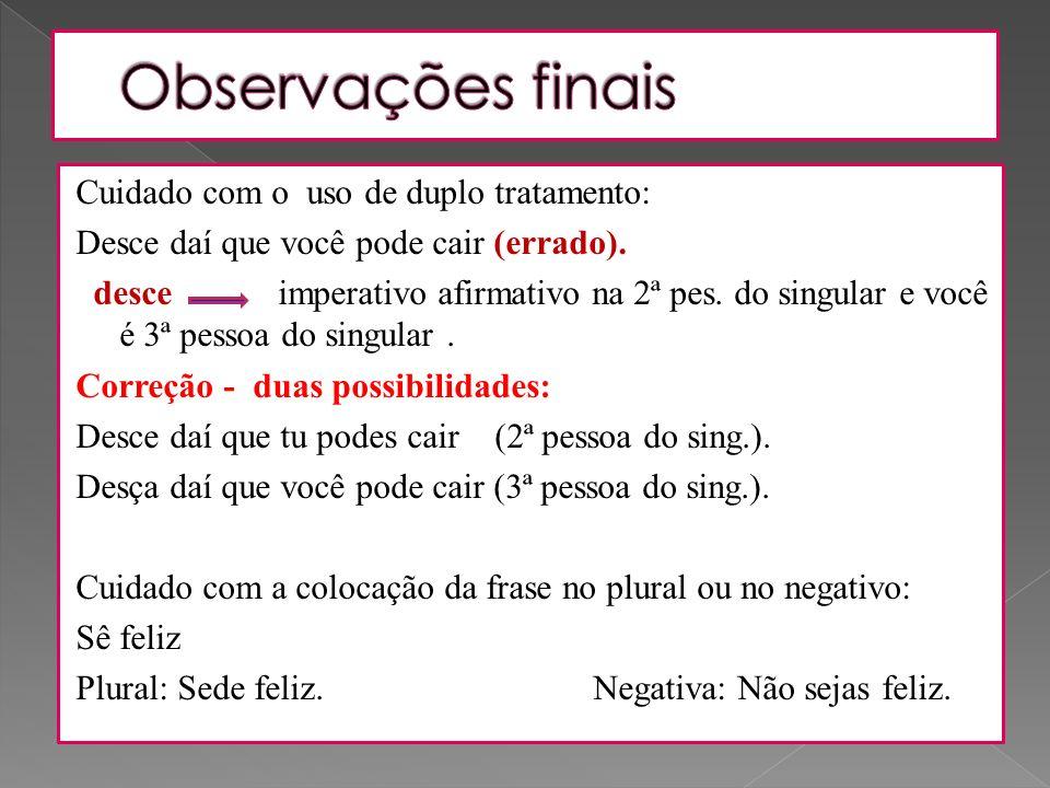 Conjugar o verbo partir no Imperativo Afirmativo e no Imperativo Negativo.
