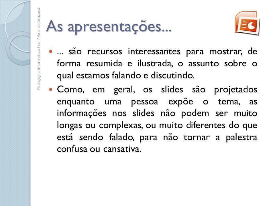 Representação Gráfica Pedagogia. Informática.Prof.ª Andréa Bruzaca