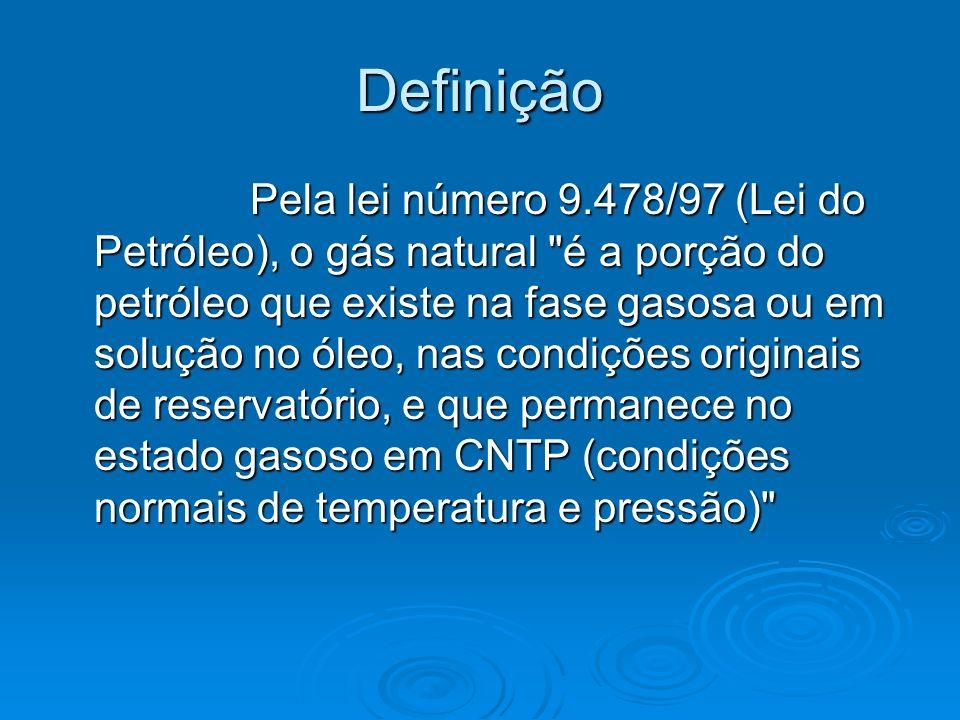 Definição Pela lei número 9.478/97 (Lei do Petróleo), o gás natural
