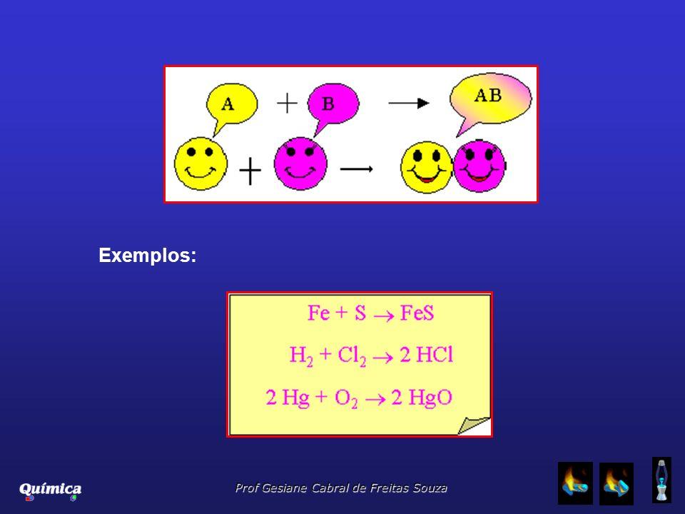 Prof Gesiane Cabral de Freitas Souza Exemplos: