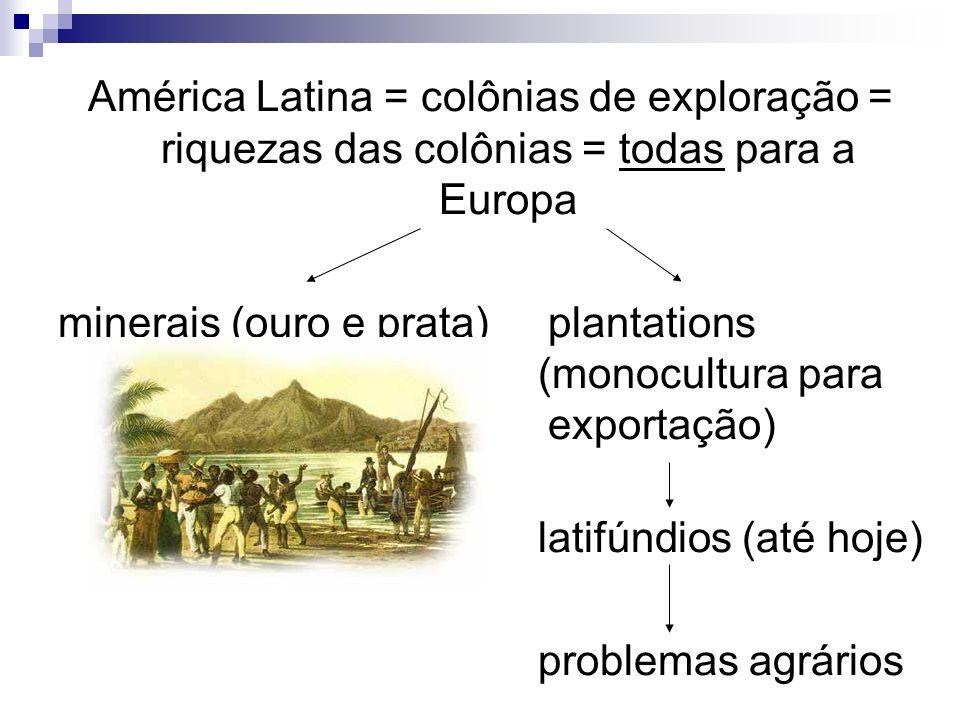 A América Latina foi formada por 3 etnias: - brancos europeus - negros africanos - ameríndios...