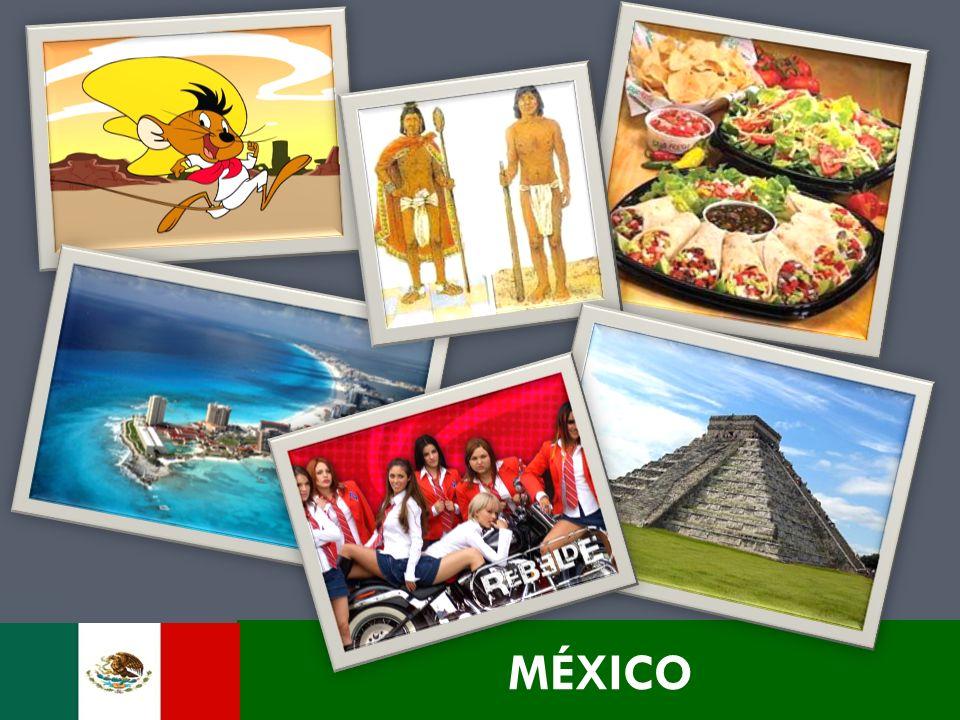 DADOS GERAIS Localização: América do Norte Capital: Cidade do México (20 Milhões de hab.) Nº de Habitantes: + de 110 Milhões Idioma: Espanhol Moeda: Peso Mexicano Área: 1.958.201 km² Bloco Econômico: NAFTA