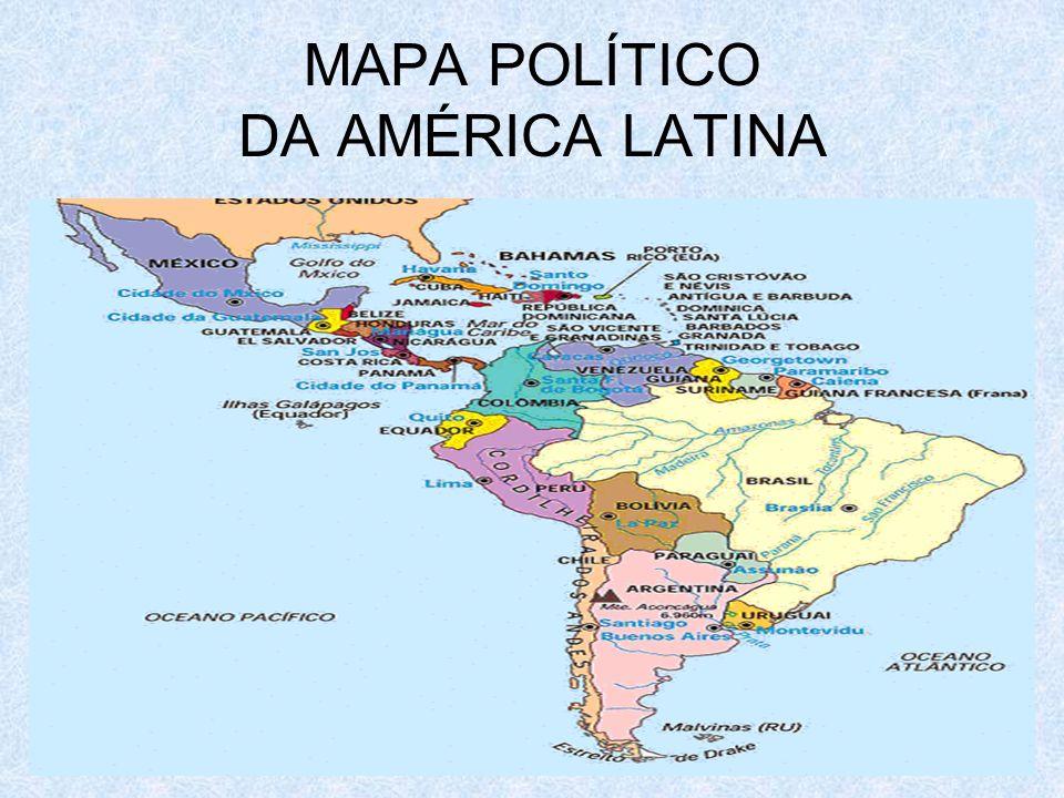 MAPA POLÍTICO DA AMÉRICA LATINA