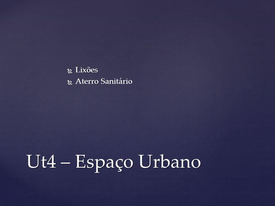 Lixões Lixões Aterro Sanitário Aterro Sanitário Ut4 – Espaço Urbano