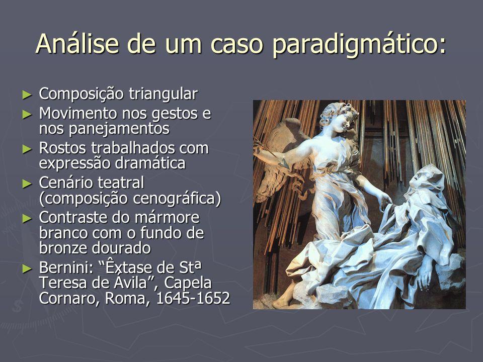 Análise de um caso paradigmático: Composição triangular Composição triangular Movimento nos gestos e nos panejamentos Movimento nos gestos e nos panej