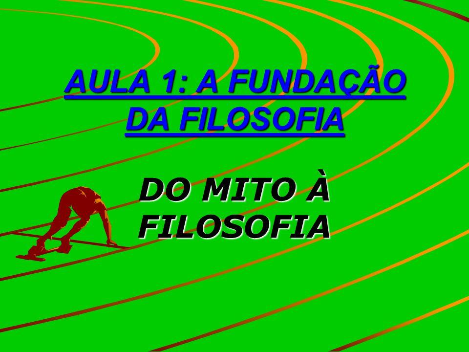 AULA 1: A FUNDAÇÃO DA FILOSOFIA DO MITO À FILOSOFIA