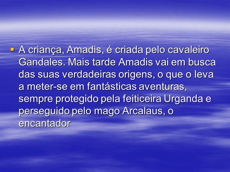 A criança, Amadis, é criada pelo cavaleiro Gandales. Mais tarde Amadis vai em busca das suas verdadeiras origens, o que o leva a meter-se em fantástic