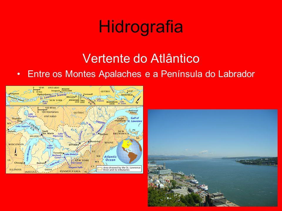 Hidrografia Vertente do Atlântico Entre os Montes Apalaches e a Península do Labrador
