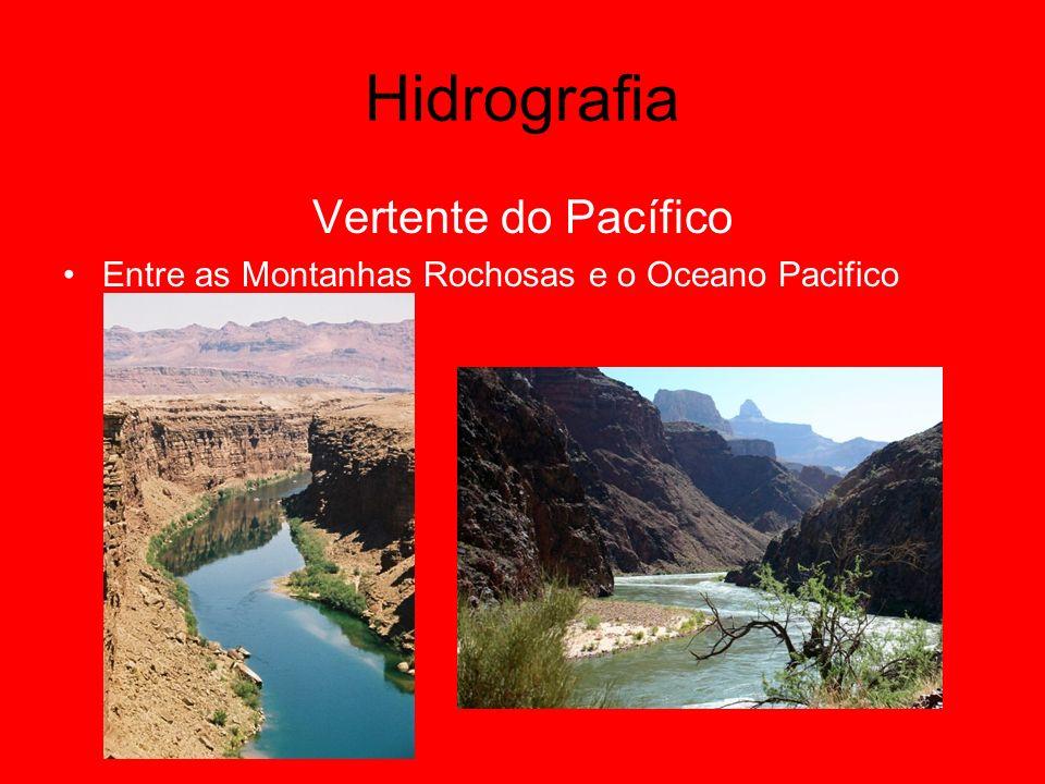 Hidrografia Vertente do Pacífico Entre as Montanhas Rochosas e o Oceano Pacifico