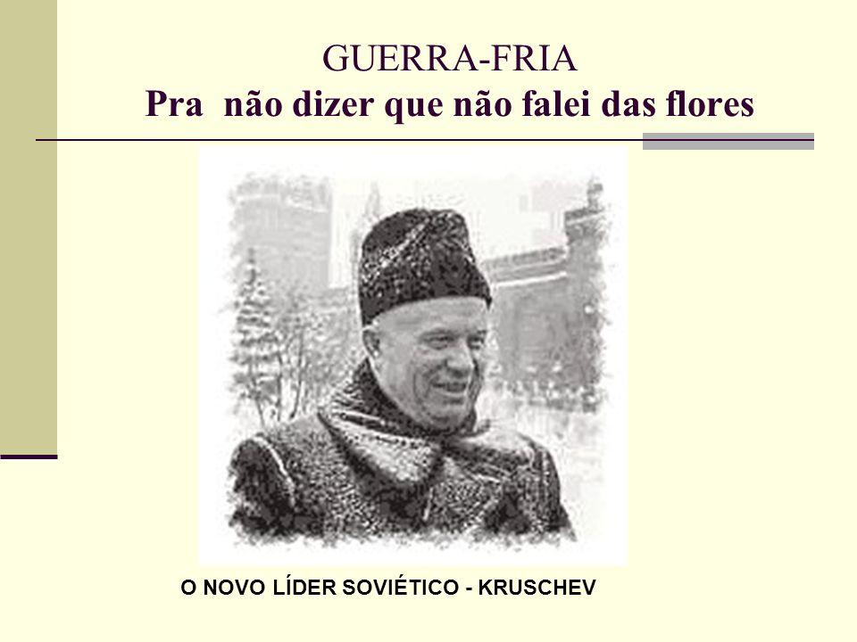 O NOVO LÍDER SOVIÉTICO - KRUSCHEV
