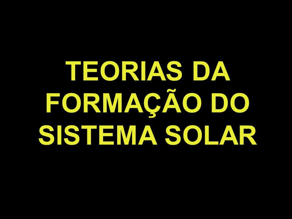 TEORIAS DA FORMAÇÃO DO SISTEMA SOLAR