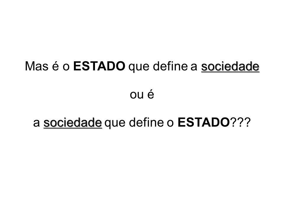 sociedade Mas é o ESTADO que define a sociedade ou é sociedade a sociedade que define o ESTADO???