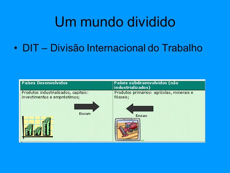 Um mundo dividido A DIT tem origem no sec.XV e vem se atualizando através dos tempos.