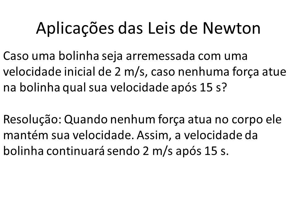 Aplicações das Leis de Newton Se o bloco A tem 2 Kg e o bloco B tem 3 Kg qual a aceleração provocada por uma força de 20 N.