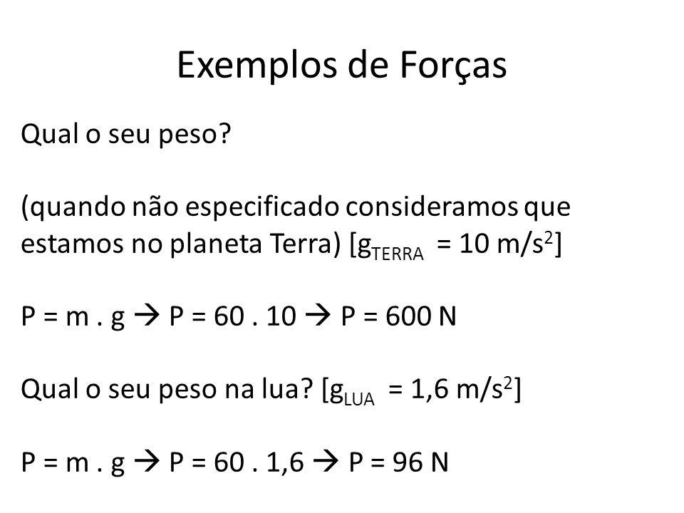 Exemplos de Forças Qual o seu peso.