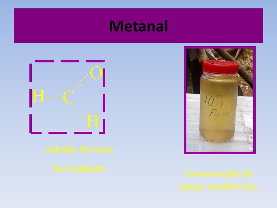 Metanal aldeído fórmico formaldeído Conservação de peças anatômicas