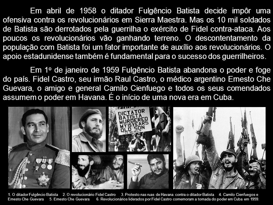 Em abril de 1958 o ditador Fulgêncio Batista decide impôr uma ofensiva contra os revolucionários em Sierra Maestra. Mas os 10 mil soldados de Batista