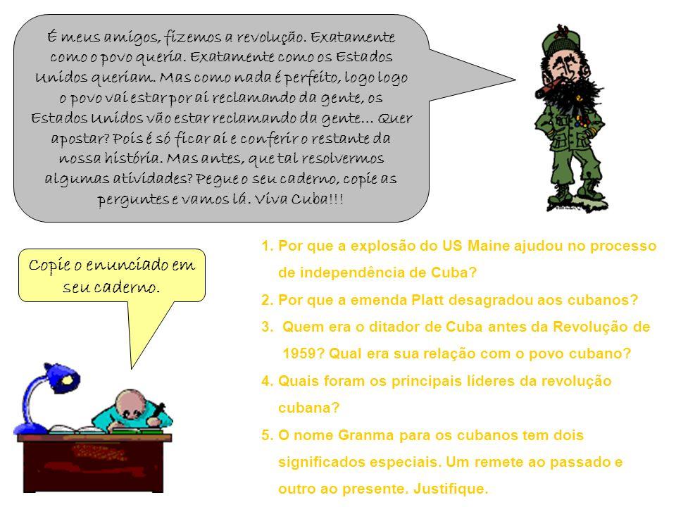 Quer saber mais sobre a Revolução Cubana.