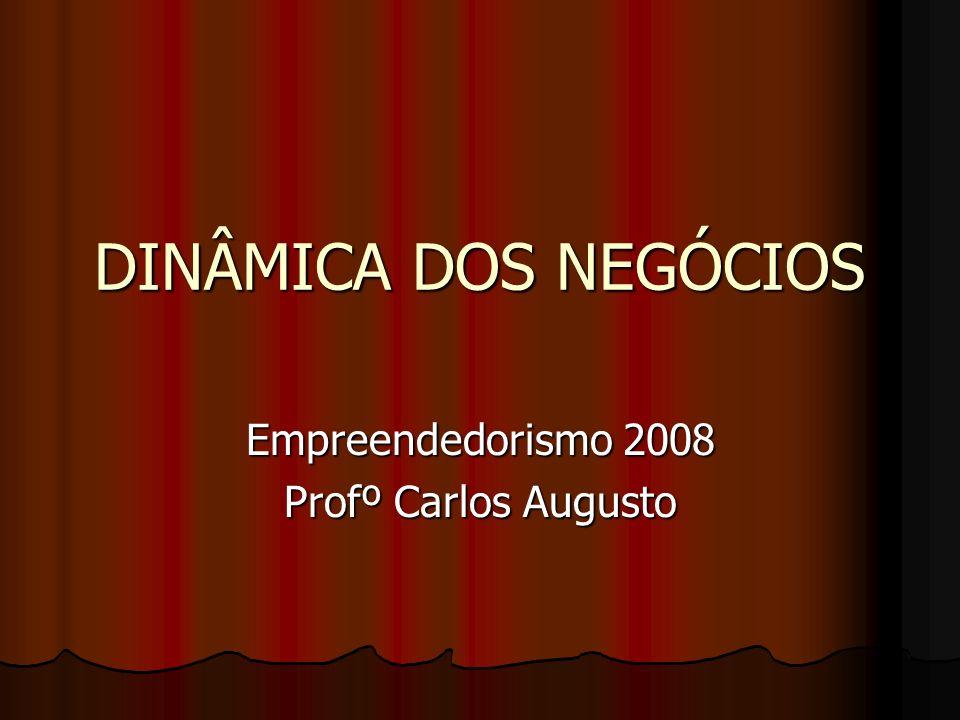 DINÂMICA DOS NEGÓCIOS Empreendedorismo 2008 Profº Carlos Augusto