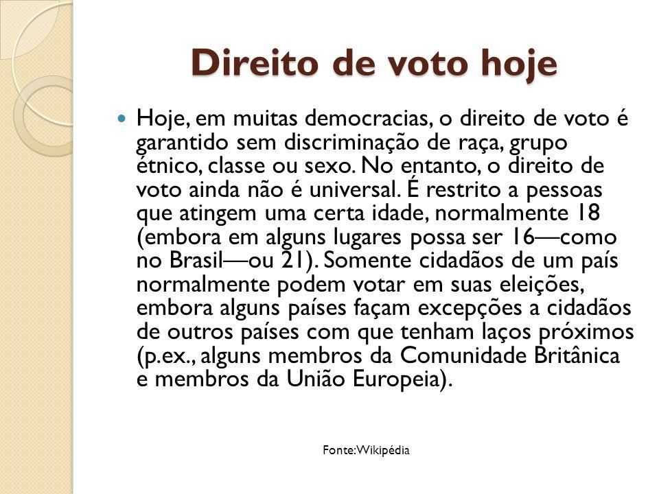 Democracias ao redor do Mundo Países em azul são designados democracias eleitorais pela pesquisa de 2010.