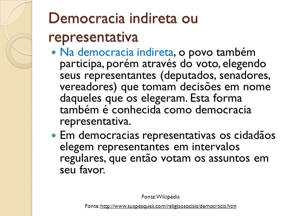 A aceitação da democracia pelo mundo Desde a Segunda Guerra Mundial, a democracia tem ganhado ampla aceitação.