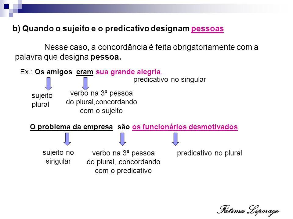 c) Verbo Ser indicando horas e distância Quando indicar horas, distância e datas, o verbo ser concordará com o predicativo.