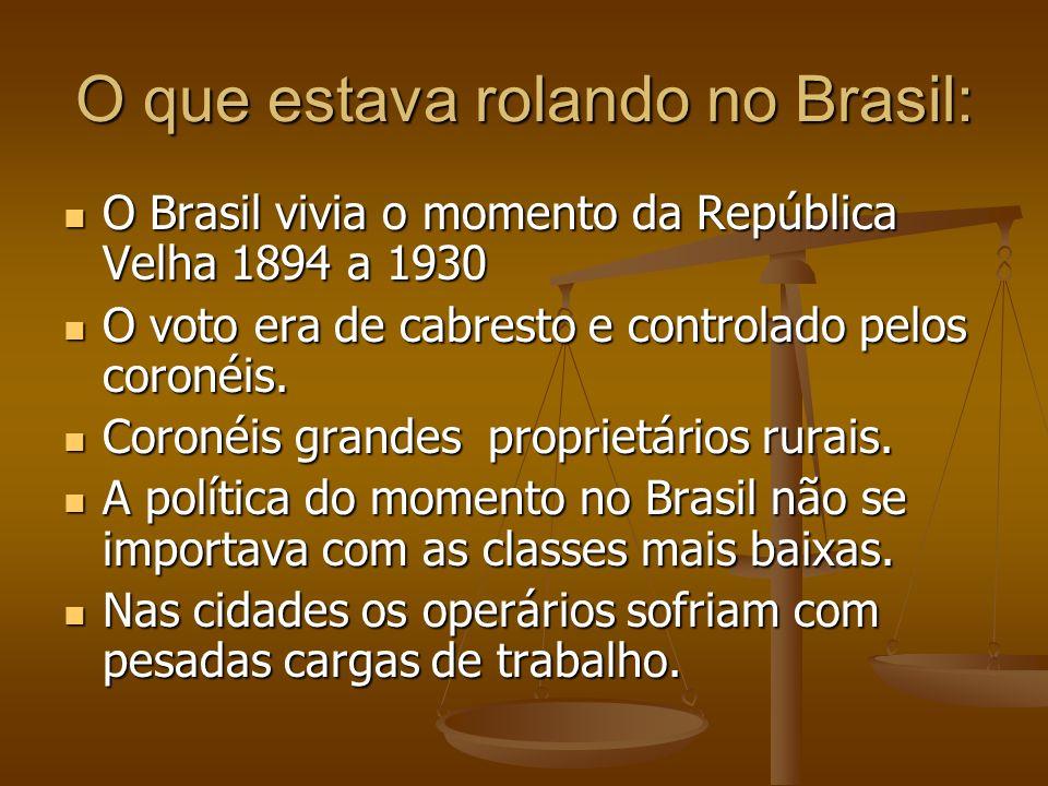 O que estava rolando no Brasil: O Brasil vivia o momento da República Velha 1894 a 1930 O Brasil vivia o momento da República Velha 1894 a 1930 O voto