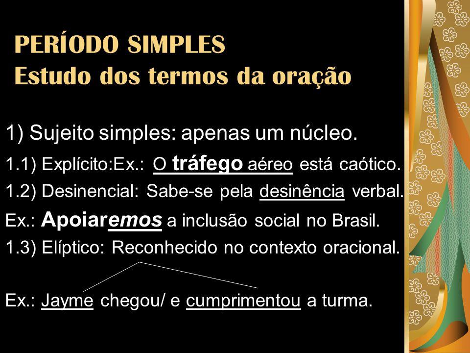 2) Sujeito composto: Mais de um núcleo.Ex.1: Eram iguais a Thaís e a Paula!!.