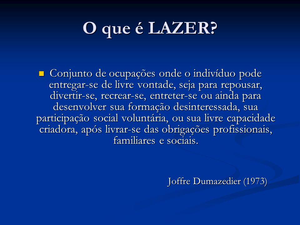 O que é LAZER.