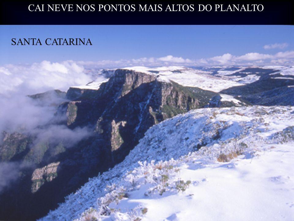 CAI NEVE NOS PONTOS MAIS ALTOS DO PLANALTO SANTA CATARINA