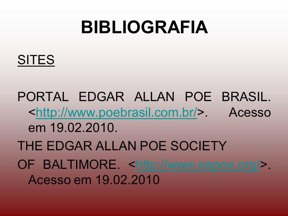BIBLIOGRAFIA SITES PORTAL EDGAR ALLAN POE BRASIL..