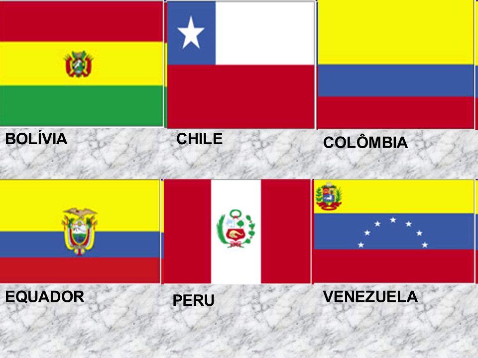 Cordilheira dos Andes Estende-se da Terra do Fogo ao Caribe, ao longo de 8.000 km na parte oeste da América do Sul, passando por uma grande variedade de zonas climáticas.