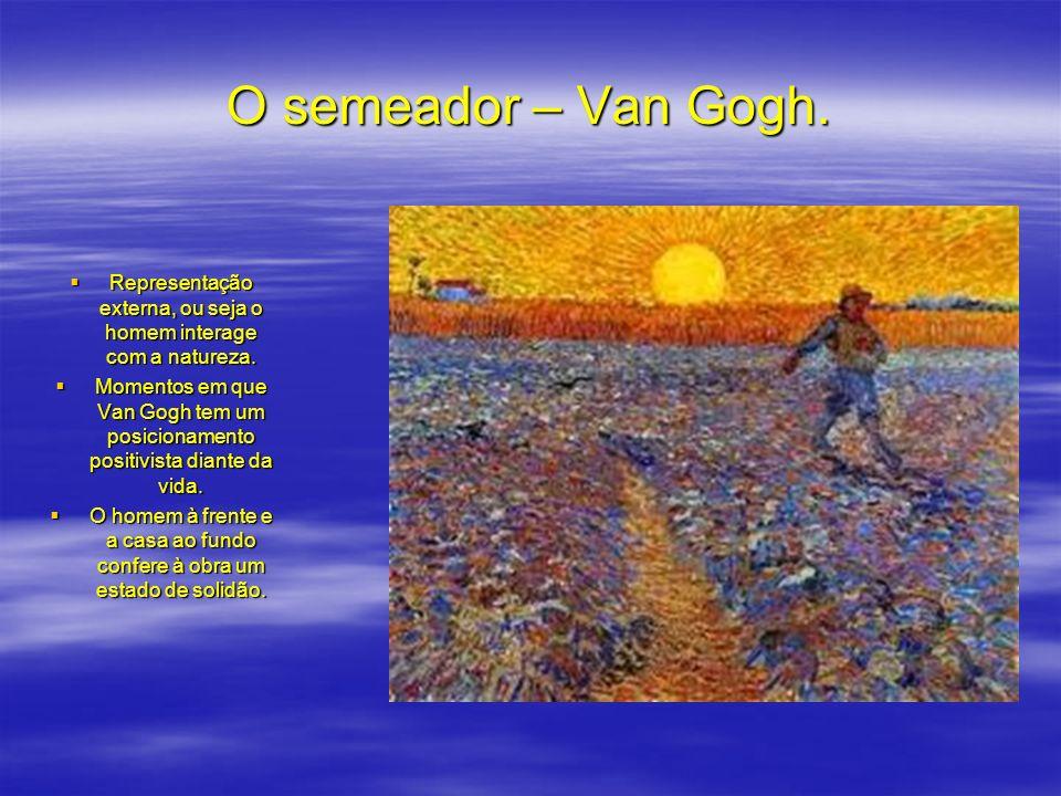 O semeador – Van Gogh. Representação externa, ou seja o homem interage com a natureza. Representação externa, ou seja o homem interage com a natureza.