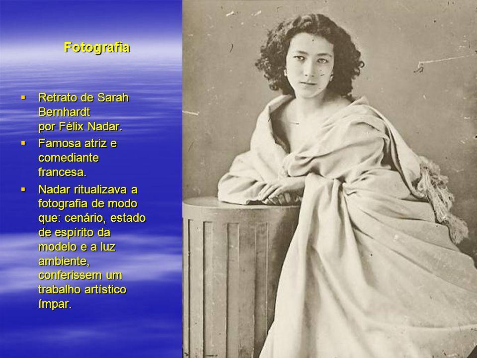 Fotografia Retrato de Sarah Bernhardt por Félix Nadar. Retrato de Sarah Bernhardt por Félix Nadar. Famosa atriz e comediante francesa. Famosa atriz e